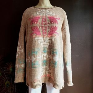 Gorgeous Southwestern Knit Sweater